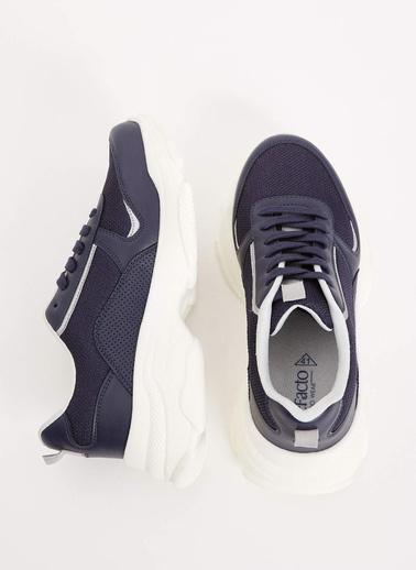DeFacto Bağcıklı Kalın Taban Spor Ayakkabı Lacivert